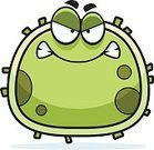 gnash,Virus,Flu Virus,Computer Graphic,Ilustration,Micro Organism,Medicine,Healthcare And Medicine,Cold And Flu,Cold Virus,Anger,Furious,Displeased,Bacterium,Cartoon,Clip Art,Cell,Vector