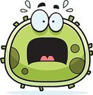 Cold Virus,Terrified,Fear,Clip Art,Cell,Sweat,Bacterium,Cartoon,Cold And Flu,Flu Virus,Micro Organism,Shouting,Screaming,Medicine,Healthcare And Medicine,Virus,Computer Graphic,Ilustration,Vector