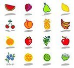 Strawberry,Fruit,Raspberry,Grape,Pineapple,Kiwi - Fruit,Drawing - Art Product,Icon Set,Apple - Fruit,Blueberry,Apricot,Coconut,Watermelon,Food,Cherry,Lemon,Banana,Orange - Fruit,Pear,Group of Objects,Shadow,Color Image,Nature,Fruits And Vegetables,Vector Icons,Illustrations And Vector Art,Food And Drink,Nature