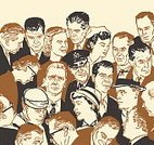 Large Group Of People,Women,Men,Pop Art,Occupation,Ilustration,People,Adult,Cap,Human Face,Hat,Personal Accessory