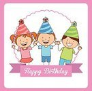 Party Hat,Celebration,Greeting Card,Vector,Childhood,Child,Anniversary,Fun,Decoration,Birthday,Ilustration,Happiness,Multi Colored,Label,Entertainment,Joy,Invitation,Party - Social Event,Design,Colors,Postcard,Holiday,Digitally Generated Image