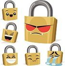 Cartoon,Padlock,Privacy,Security,Surprise,Gold Colored,Mascot,Characters,Evil,Lock,Anger,Anthropomorphic,kawaii,Set,Facial Expression,Solid Colors,Laughing,Label,Ilustration,Computer Graphic,Depression - Sadness,Sadness,Crying,Tear,Vector,Isolated On White,Clip Art,Cute,Cheerful,chibi,Emotion,Collection,Emoticon,No Gradients,Smiling,Lol,Isolated