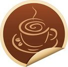 Coffee - Drink,Label,Coffee Cup,Cup,Sticky,Espresso,Drinking,Symbol,Mug,Computer Icon,Cream,Cappuccino,Ilustration,Vector,Curled Up,Cafe Break,Drink,Beige,Saucer,Mocha,Arts Symbols,Vector Icons,Drinks,Arts And Entertainment,Food And Drink,Illustrations And Vector Art