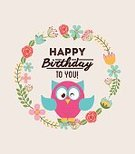 Birthday,Owl,Celebration,Greeting Card,Ilustration,Seal - Stamp,Vector,Flower,Event,Cultures,Joy,Entertainment,Happiness,Postcard,Fun,Anniversary,Individuality,Digitally Generated Image,Decoration,Label,Holiday,Party - Social Event,Invitation,Multi Colored,Design