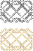 Celtic Culture,Tied Knot,Woven,Pattern,knotwork,Crisscross,Design Element,Celtic Knot,Grid,Bead,Intertwined,Gold,Gold Colored,Black Color,Illustrations And Vector Art,Vector Ornaments,Twisted,Ornate,Ilustration,Two Objects