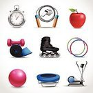 Single Object,Roller Skating,Apple - Fruit,Balance,Icon Set,Dumbbell,Whistle,Stopwatch,Work Tool,Design Element,Muscular Build,Design,Protein,Dieting,Overweight,Jogging,Ilustration,Rope,Trampoline,Ornate,Concepts,Collection,Running,Food,Exercising,Sport,Computer Icon,Weights,Meal,Food And Drink,Healthy Eating,Ball,Symbol,Set,Machinery,Isolated,Fat,Vector,Energy,Insignia,Jumping,Ideas,The Human Body