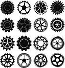 Gear,Machine Part,Equipment,Business,Cooperation,Sign,Circle,Ilustration,Turning,Communication,Factory,Symbol,Vector,Wheel,Machinery,Collection,Engine,Clock,Technology