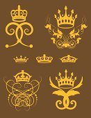 Crown,Coat Of Arms,Nobility,Vector,Floral Pattern,Flower,Growth,filigree,Design Element,Gold Colored,Victorian Style,Swirl,Ornate,Single Line,Gothic Style,Art Deco,heraldic,Arabic Style,Leaf,Art Nouveau,Scroll Shape,Old-fashioned,Spiral,Squiggle,Engraved Image,Symmetry,Curve,Engraving,Foliate Pattern,Curled Up,Mirrored Pattern,In A Row,accent,Dividing,footer,Vector Backgrounds,Illustrations And Vector Art,Vector Ornaments,Vector Florals