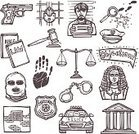 Crime,Courthouse,Criminal,Prison,session,Insignia,Witness,Fingerprint,Design,Law,Justice - Concept,Legal System,Badge,Concepts,Sketch,Judge - Law,Business,Set,Collection,Police Force,Vector,Lawyer,Legislation,Doodle,Juror - Law,Scale,Scrapbook,Prisoner,Agreement,Handcuffs,Design Element,Symbol,Computer Icon,Icon Set,Single Object,Mallet,Gun,Isolated,Ilustration,Gavel,Document,Drawing - Activity,Determination,Book,Certificate,Weight Scale