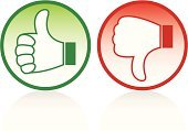 Thumbs Up,Thumbs Down,Thumb,Symbol,Green Color,Stop,Trust,Positive Emotion,Red,Human Hand,Negative Emotion,Hand Sign,Support,Stop Gesture,Knuckle,Vector Cartoons,Communication,People,Illustrations And Vector Art,Concepts And Ideas
