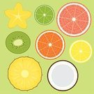 Pineapple,Fruit,Slice,Kiwi - Fruit,Coconut,Pattern,Starfruit,Cartoon,Lime,Orange - Fruit,Lemon,Grapefruit,Computer Graphic,Vector,Ilustration,Citrus Fruit,Food,Pink Color,Organic,Juicy,Peel,Vibrant Color,Image,Circle,Vitality,Design,Set,Healthy Eating,Painted Image,Green Color,Vitamin Pill,Color Image,Vector Backgrounds,Vector Cartoons,Illustrations And Vector Art,Sweet Food,Yellow,Ripe,Food And Drink