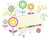 Springtime,Flower,Retro Revival,Colors,Frame,Backgrounds,Swirl,Pink Color,Circle,Blue,Turquoise,Rectangle,Multi Colored,Bright,Growth,Purple,Green Color,Summer,Vignette,Vibrant Color,Design Element,Stem,Petal,Leaf,Yellow,Style,Blank,Nature,Flowers,Illustrations And Vector Art,Part Of,Vector Florals,Elegance