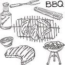 Meat,Sauces,Barbecue,Beef,Slice,Tongs,Fried,Sausage,Barbecue Grill,Recreational Pursuit,vector illustration,Ilustration,Vector,Pencil Drawing,Back Lit,Leisure Activity,Silhouette,Fork