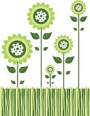 Flower,Single Flower,Springtime,Simplicity,Vector,Petal,Leaf,Modern,Symbol,Cute,Computer Icon,Grass,Spotted,Green Color,Nature,Cool,Clip Art,Plant,Funky,Blossom,Illustrations And Vector Art,Ilustration,White,Vector Florals,Nature,Flowers,Beauty In Nature