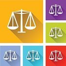 Civil Rights,Law,Legal System,Instrument of Measurement,Comparison,Crime,Lawyer,Measuring,Legislation,Simplicity,Set,Orange Color,Square Shape,Funky,Internet,Sign,Balance,Flat,Multi Colored,Shadow,White,Red,Blue,Green Color,Style,webdesign,Interface Icons,Design,Weight Scale,Justice - Concept,Icon Set,Vector