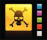 Symbol,Danger,Human Skull,Skull and Crossbones,Computer Icon,Toxic Substance,Dead Person,Internet,Evil,Pirate Flag,Death,Push Button,Computer Graphic,Green Color,Colors,White,Red,Yellow,Shiny,Black Background,Color Image,Digitally Generated Image,Halloween,Vector,Black Color,Human Bone,Blue,Glass - Material,Ilustration,Pink Color