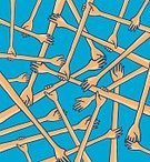 Human Hand,Togetherness,Solidarity,A Helping Hand,Assistance,Team,Love,Holding,Friendship,Ideas,Vector,Ilustration,Bonding,Chaos,Octagon,Teamwork,Concepts,Cartoon,Pen And Marker,Chance,Human Arm,Connection,Cooperation,Help,Strength