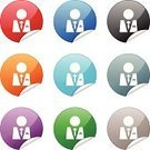 Suit,Religious Icon,Computer Icon,Manager,Symbol,Tie,Customer Service Representative,People,Office Worker,Blue,One Person,Red,Label,Interface Icons,Black Color,Gray,Circle,Multi Colored,Orange Color,Peeling,Green Color,Shiny,Objects/Equipment,White Background,Torn,Internet,Curve,Illustrations And Vector Art,Vector Icons,Concepts And Ideas,web icon,Curled Up,Single Object,Purple