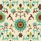 Seamless,Retro Revival,Floral Pattern,Pattern,Flower,Old-fashioned,Backgrounds,Single Flower,Repetition,Victorian Style,Textile Industry,Wallpaper Pattern,Ornate,Leaf,Antique,Plant,Elegance,Decoration,Greeting,Vector Florals,Nature Backgrounds,Nature,Illustrations And Vector Art,Holidays And Celebrations