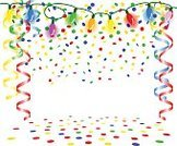 Confetti,Birthday,Christmas Lights,Carnival,Multi Colored,Chain Of Lights,Decoration,No People,Children's Birthday,Isolated,Traditional Festival,Streamer,Copy Space,Event,Party - Social Event,Backgrounds,Anniversary,Home Improvement,Celebration,New Year,New Year's Day,New Year's Eve,Frame