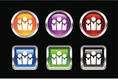Religious Icon,Three People,People,Symbol,Teamwork,Group Of People,Team,Black Color,Computer Icon,Community,Interface Icons,Labor Union,Circle,Unity,Push Button,Fan,Blue,Red,Internet,Square Shape,Single Object,Black Background,Green Color,Illustrations And Vector Art,Shiny,Curve,Concepts And Ideas,Purple,Multi Colored,Vector Icons,web icon,Orange Color,Objects/Equipment,Square,Metallic