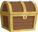 Computer Graphic,Treasure Chest,Clip Art,Ilustration,Isolated,No Gradients,Crate,Solid Colors,Vector,Isolated On White,Gold,Treasure,Box - Container,Trunk,Wealth,Gold Colored,Currency,Cartoon