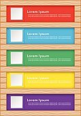 Blue,wood pattern,Vector,Red,Yellow,Green Color,Purple,Text,template,Label,Infographic,List,Document,Sign,Candid,Ilustration