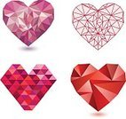 Heart Shape,Geometric Shape,Valentine Card,Day,Valentine's Day - Holiday,Set,Computer Icon,Isolated,Collection,Love,Internet,Two-dimensional Shape,Sign,Heart Logo,Pattern,Photographic Effects,Wedding,Ilustration,Computer Graphic,Label,Diamond,Textured Effect,Greeting,Light - Natural Phenomenon,polygonal,Triangle,Vector,Red,Symbol,Flat,Paper,Abstract,Origami,marry