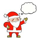 Drawing - Activity,Rough,Doodle,Bizarre,Clip Art,Ilustration,Cute,Christmas,Santa Claus,Cheerful,Thought Bubble,Father