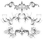 Ornate,Gray,Elegance,Classical Style,Abstract,Decoration,Silhouette,Sidebar,Vignette,Black Color,Creativity,Computer Graphic,stylization,Turning,Arts And Entertainment,Element Of The Design,Vector Florals,Stocking Up,Arts Abstract,Vector Ornaments,Illustrations And Vector Art,White Background,Base,Ilustration,Symmetry