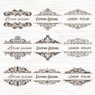 Old-fashioned,Retro Revival,Christmas Ornament,Calligraphy,Wedding,Ornate,Vector,Scroll Shape,Design,Frame,Banner,Greeting,Art,Page,Design Element,filigree,Style,Ilustration,In A Row,Elegance,Certificate,Formalwear,Greeting Card,Floral Pattern,Invitation,Flourish,Swirl,Label,Classic,Decoration