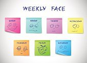 Cheerful,Happiness,Monday,Sadness,Depression - Sadness,Day,Wednesday,Week,Occupation,Tired,Smiling,Weekend Activities,Icon Set,Single Object,Green Color,Computer Icon,Set,Environmental Conservation,Sticky,Ornate,Collection,Real People,Vector,Blue,Color Image,Human Face,Thursday,Office Interior,Humor,Yellow,Colors,weekly,Human Head,Insignia,Scrapbook,Design Element,Symbol,Design,Concepts,Paper,Friday,Ilustration,Facial Expression,Calendar,Peeled,Note Pad,Isolated,Relaxation,Time,Fun,Business,People,Mail