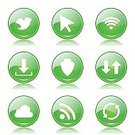 Wireless Technology,Sign,Interface Icons,Glossy Button,Green Color,Symbol,Round Button,Green Button,Isolated,Fog,Connection,Social Gathering,Bird,Icon Design,Phone Icon,Design,Set,Ilustration,Digitally Generated Image,App Icon,dowload,Social Networking,Cloud - Sky,Vector,Computer Graphic,Icon Set,Collection,Internet,web icon,Shape,vector icon
