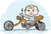 Motorcycle,Tricycle,Baby,Biker,Child,Riding,Riding,Little Boys,Cycling,Rough,Toy,Vector,plaything,Street,Boot,Illustrations And Vector Art,Blond Hair,Pedal,Ilustration,Art