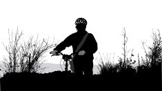 Transportation,Mode of Transport,Exercising,Vector,Black Color,Outdoors,Focus on Shadow,Real People,Ilustration,Journey,Outline,Work Helmet,Silhouette,Cycling,The Human Body,Computer Graphic,Bicycle,Wilderness Area,Bush,Adventure,Extreme Terrain,Shadow