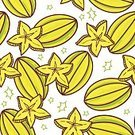 Seamless,Ilustration,Juice,Pattern,Nature,Slice,Vector,Wallpaper Pattern,Starfruit,Backgrounds,Art,Food,Computer Graphic,Ripe,Orange Color,Dessert,Colors,Star Shape,Healthy Eating,Freshness,Yellow,Fruit,Vegetarian Food,Color Image