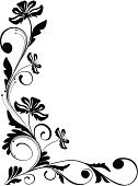 Corner,Flower,Floral Pattern,Swirl,Design,Black Color,Growth,Black And White,Vector,Ornate,Decoration,Silhouette,Leaf,Blossom,Branch,Plant,Design Element,Backgrounds,Abstract,Ilustration,Wallpaper Pattern,Love,Botany,Elegance,Nature,Image,Shape,Springtime,Summer,Curve,Vector Florals,Illustrations And Vector Art,Vector Backgrounds