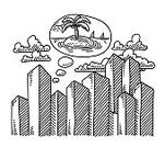 Black And White,Palm Tree,Dreamlike,Island,Aspirations,Beauty In Nature,Vacations,Clip Art,black-and-white,Design Element,hand drawn,City,Black Color,Sea,Shadow,Journey,Isolated On White,Doodle,Idyllic,City Life,Built Structure,Cloud - Sky,Skyscraper,Summer,Drawing - Art Product,Sketch,White,Thinking,Desire,Thought Bubble,Transparent,Vector,Ilustration,Pen And Marker,Single Object,No People,Travel Destinations,Cityscape,Day Dreaming,Horizontal,Tourist Resort,Simplicity,Concepts,Sun,Relaxation,Building Exterior,Urban Scene,Line Art