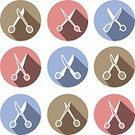Hipster,Old-fashioned,Retro Revival,Sewing,Scissors,Set,Workshop,Pink Color,workroom,Vector,Craft,Brown,Blue,Embroidery,Symbol,Icon Set