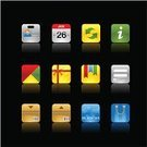 Calendar,Internet,Symbol,Form,Computer Icon,Black Color,Backgrounds,Connection,user,Icon Set,Credit Card,Set,Shopping,Box - Container,Shiny,Delivering,Square Shape,Information Medium,Refreshment,Vector,Gift,Bag,Reflection,Advice,Black Background,Elegance,Graph,Data,Style,debit,Vector Icons,Ilustration,Illustrations And Vector Art