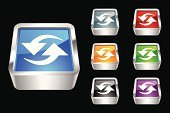 Symbol,Three-dimensional Shape,Computer Icon,Square Shape,Square,Orange Color,reload,Metallic,Arrow Symbol,Push Button,Shiny,Multi Colored,Religious Icon,Interface Icons,Single Object,Black Color,web icon,Objects/Equipment,Vector Icons,Blue,Illustrations And Vector Art,Gray,Black Background,Refreshment,Red,Purple,Green Color