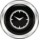 Clock,Symbol,Time,Clock Face,Computer Icon,Vector,Web Page,Metallic,Ilustration,Single Object,Internet,Shiny,Circle,Metal,Black Color,Push Button