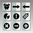 Arrow,Clock,White,Group of Objects,Leaving,right,Multiplication,Plus Sign,Knick Knack,Tag,Computer Graphic,Sharing,Computer Icon,Diagram,Minus Sign,Exclamation Point,Symbol,Icon Set,Interface Icons,Ilustration,Vector,Technology