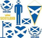 Circle,Scottish Flag,Symbol,Tourism,Flag,Men,Bizarre,Sign,Laurel Wreath,Design Element,Ribbon,Ilustration,Blue,Old-fashioned,Collection,Insignia,gbr,Isolated,People,Set,Famous Place,Cultures,Red,Banner,Abstract,Travel,Scotland,UK,Crown,Edinburgh,Scottish Culture,England,Vector,Placard