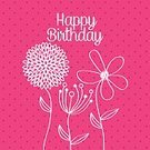 Event,Individuality,Entertainment,Postcard,Colors,Happiness,Holiday,Design,Invitation,Cultures,Fun,Decoration,Ilustration,Party - Social Event,Celebration,Birthday,Label,Joy,Digitally Generated Image,Flower,Ornamental Garden,Greeting Card,Pastel Colored,Cute,Nature,Vector
