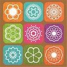 Flower,Single Flower,Sign,Symbol,Interface Icons,Wood - Material,Icon Set,Textured,Grunge,Textured Effect,Nature,Religious Icon,Decoration,Ornate,Vector Florals,Vector Icons,Flowers,Internet Icon,Illustrations And Vector Art,Nature