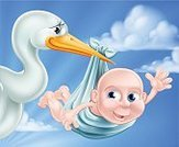 Animal,Blue,Announcement Message,Bird,Cartoon,White,Clip Art,Happiness,Small,Ilustration,Vector,Holding,Beak,New Life,Computer Graphic,Baby,Congratulating,Cheerful,Child,Newborn,Baby Girls,Little Boys,Characters,Birthday,Son,Stork,Shower,Childbirth,Crane,Carrying