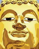 Buddha,Statue,Gold Colored,Gold,Sculpture,Temple - Building,Human Face,God,Metal,Human Head,Human Eye,Religion,Serene People,Buddhism,Computer Graphic,Art,Love,Spirituality,Vector,Staring,Content,Respect,Relaxation,East Asian Culture,Illustrations And Vector Art,Religion,Concepts And Ideas,Ilustration
