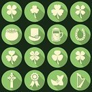 Republic of Ireland,Backgrounds,Beer - Alcohol,Leaf,Luck,National Landmark,Currency,Cauldron,Celebration,Flower,Vector,Treasure,Flat,Coin,Celtic Culture,Clover,Saint,Shadow,Leprechaun,Irish Culture,Ilustration,March,Mythology,Set,Cooking Pan,Symbol,Horseshoe,Fun,Cultures,St. Patrick's Day,Gold,Green Color,Hat,Harp,Springtime