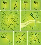 Martini,Martini Glass,Cocktail,Glass,Olive,Glass - Material,Vector,Drink,Alcohol,Liquid,Fun,Ilustration,Design Element,Food And Drink